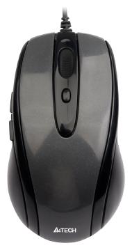 Мышь A4 N-708X-1 Glossy grey USB V-Track - изображение 1