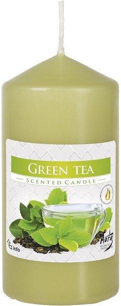 Свеча ароматическая столбик Bispol Зеленый чай 12 см (swz60/120-83) - изображение 1