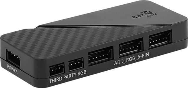Хаб для керування RGB-підсвіткою Aerocool H66F 6 x 6-pin ARGB + 2 x 3-pin 5V (H66F HUB) - зображення 1