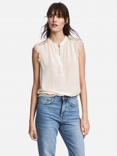 Блузка H&M 5100176RP1 44 Кремовая (PS2030000045815) - изображение 1