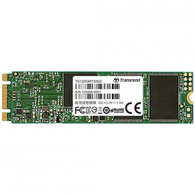 Накопичувач SSD M. 2 2280 120GB Transcend (TS120GMTS820S) - зображення 1