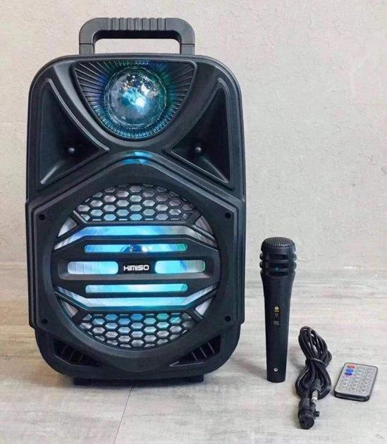 """Беспроводная аккумуляторная Bluetooth колонка Kimiso QS-4002 (8"""") с микрофоном и пультом - изображение 1"""