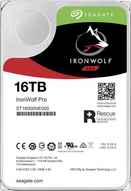 "Жорсткий диск Seagate IronWolf Pro HDD 16TB 7200rpm 256MB ST16000NE000 3.5"" SATAIII - зображення 1"
