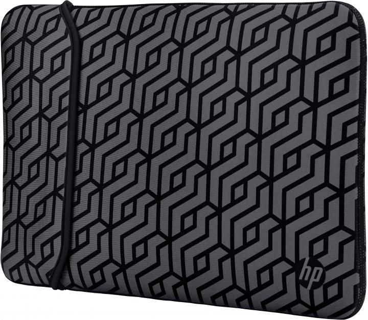 "Чехол для ноутбука HP Reversible Sleeve - Geometric 14"" Black/Silver (2TX16AA) - изображение 1"