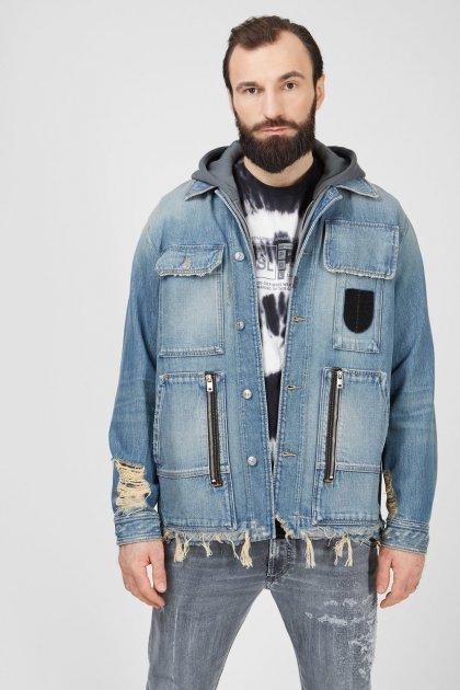 Чоловіча блакитна джинсова куртка D-SERLE Diesel L A01959 009SA - зображення 1