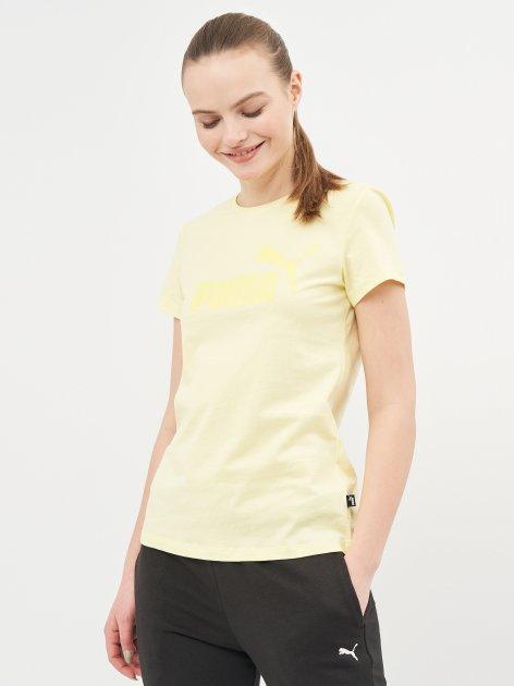 Футболка Puma Ess Logo Tee 58677540 XS Yellow Pear (4063697275492) - изображение 1