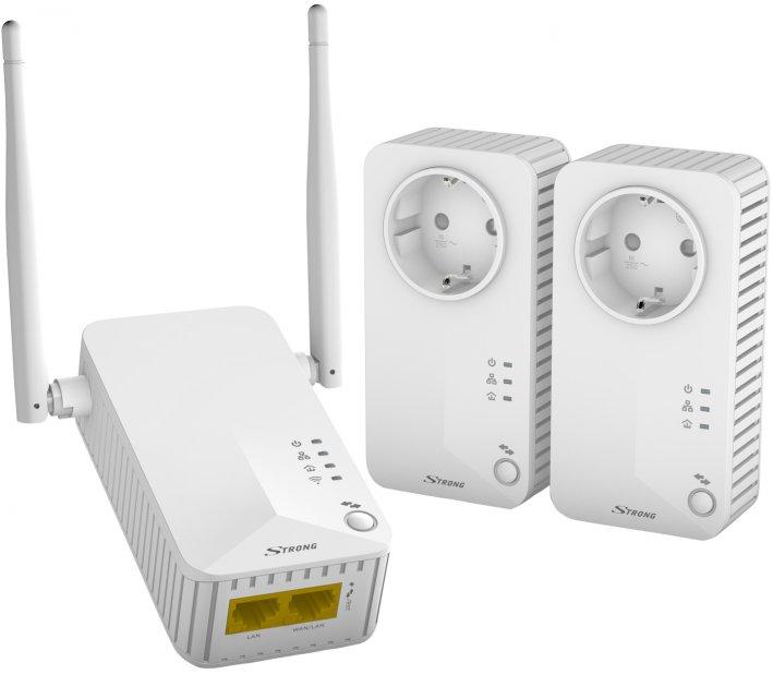 Комплект адаптеров Powerline Strong Wi-Fi 500 Triple Pack - изображение 1
