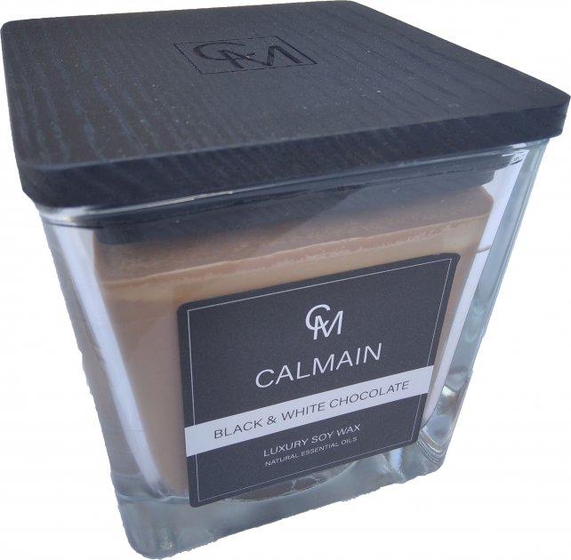 Ароматическая свеча Calmain 220 г Черный и белый шоколад (kI6187) - изображение 1