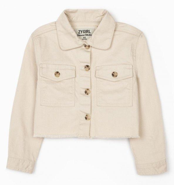 Джинсова куртка Zippy ZG0103_487_2 118 см Бежева (5602156407709) - зображення 1