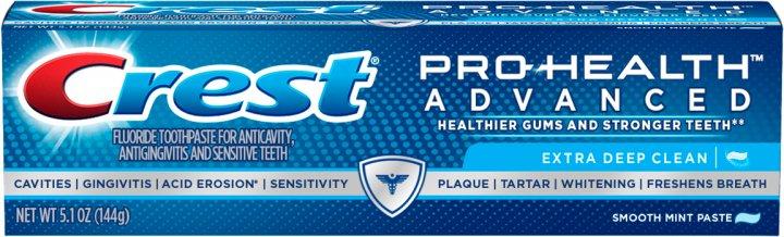 Уходовая зубная паста Crest Pro-Health Advanced Extra Deep Clean Mint DCF 144 г (37000976677) - изображение 1