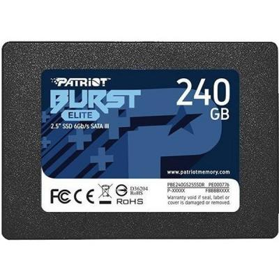 """Накопичувач SSD 2.5"""" 240GB Burst Elite Patriot (PBE240GS25SSDR) - зображення 1"""