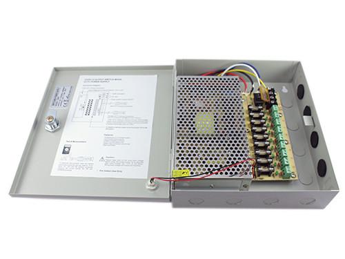 Блок живлення MingHe в металевому ящику для камер CCTV, 9-кан 12 В 10 А 120 Вт - зображення 1