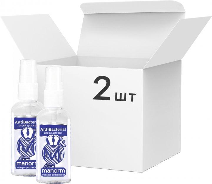 Упаковка антибактеріального засобу для ніг Manorm 2 шт. х 50 мл (ROZ6400105333) - зображення 1