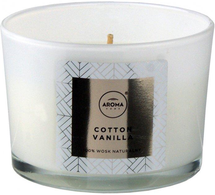 Ароматическая свеча из натурального воска Aroma Home Elegance Cotton Vanilla 115 г (5902846836650) - изображение 1