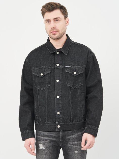 Джинсова куртка Calvin Klein Jeans Dad Denim Jacket J30J318076-1BY L Denim Black (8719853755969) - зображення 1