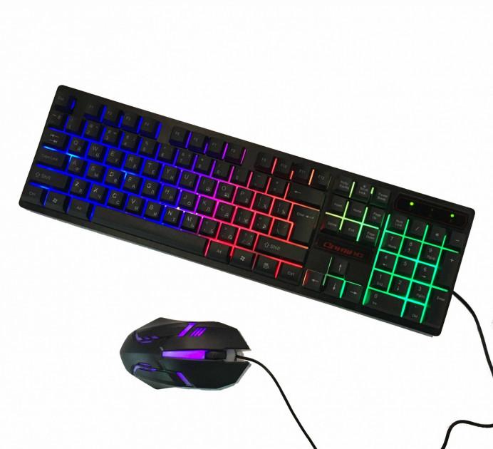 Професійна ігрова клавіатура c динамічною RGB підсвіткою і мишкою UKC HK-6300TZ (6300) - зображення 1