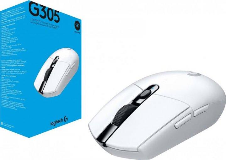 Миша бездротова Logitech G305 (910-005291) White USB - зображення 1
