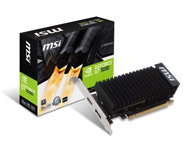 MSI GeForce GT 1030 2GB GDDR5 Low Profile OC (GeForce GT 1030 2GH LP OC) - зображення 1
