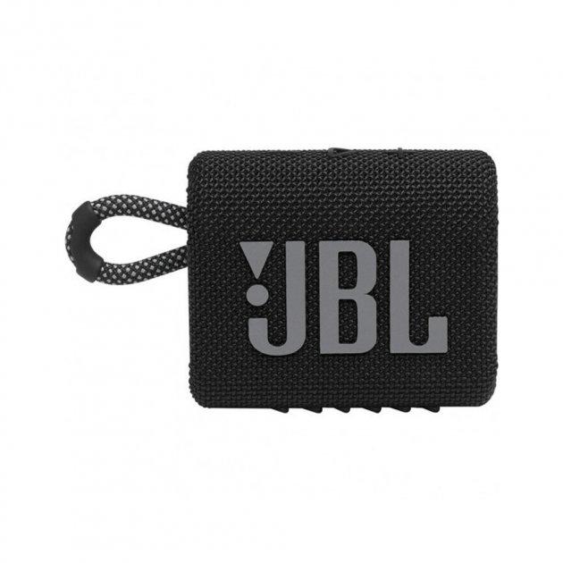Портативна акустика JBL GO 3 Black (JBLGO3BLK) - зображення 1
