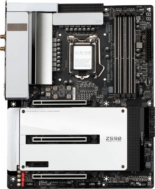 Материнська плата Gigabyte Z590 Vision D (s1200, Intel Z590, PCI-Ex16) - зображення 1