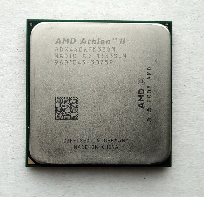 Процесор AMD Athlon II X3 440 3,0 GHz sAM3 Tray 95w (ADX440WFK32GI ADX440WFK32GM) Rana Б/У - зображення 1