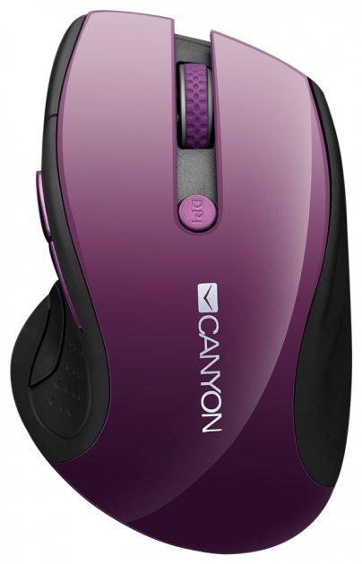 Миша Canyon CNS-CMSW01P Wireless Purple/Black - зображення 1