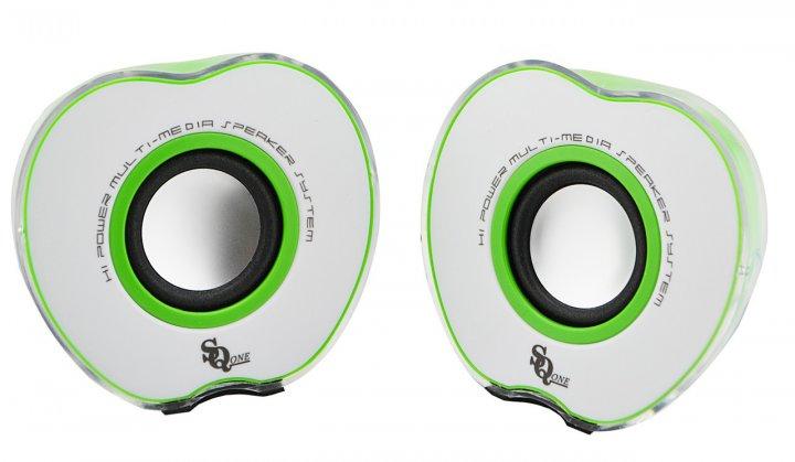 """Колонки """"Яблоко"""" для PC Delltaplus 2.0 USB 128X/028A Green - изображение 1"""