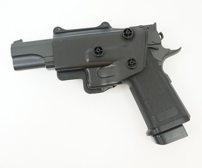 Страйкбольный пистолет Galaxy G6+ (Colt M1911) с кобурой - зображення 1