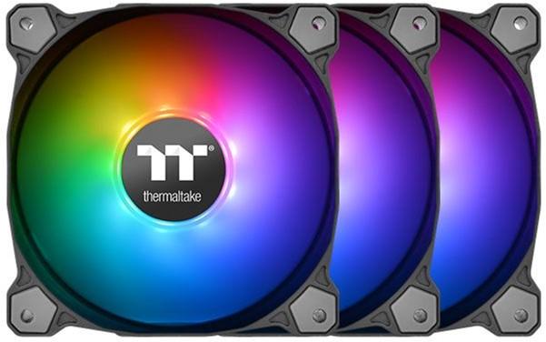Набір вентиляторів Thermaltake Pure 14 ARGB Sync Radiator Fan TT Premium Edition (комплект з 3) (CL-F080-PL14SW-A) - зображення 1