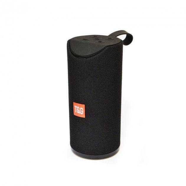 Портативная Bluetooth колонка T&G 113, влагостойкая c функцией громкая связь, FM радио, черная - изображение 1