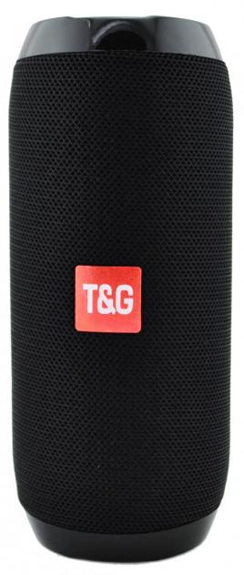 Портативна Bluetooth колонка T&G 117, вологостійка c функцією гучний зв'язок, FM радіо, чорна - зображення 1