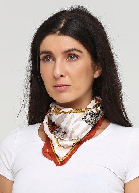 Платок H&M 1212-5004350 55х55 см Бежево-коричневый/Звери (hm03339832613) - изображение 1