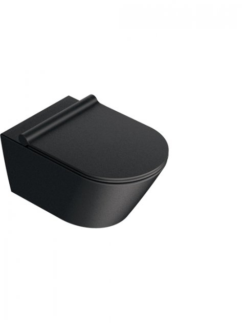 Унітазу Catalano Zero 1VS55NRNS підвісний безободковый 35x55 см Чорний матовий (2800000097) - зображення 1