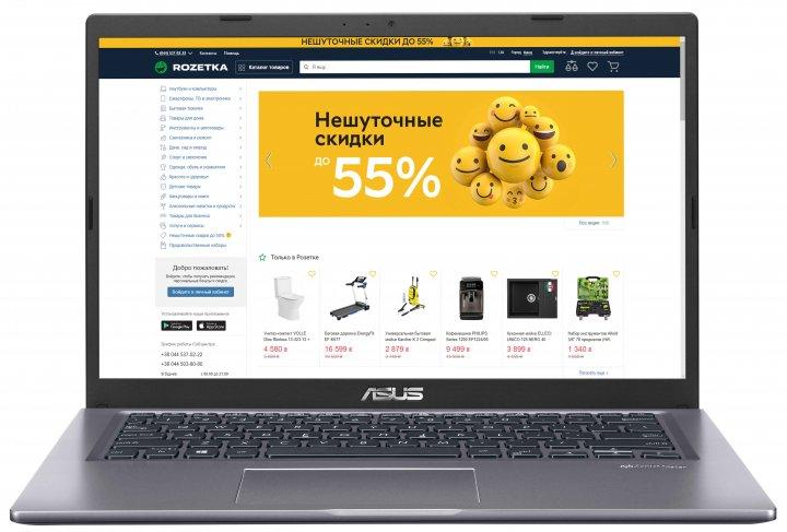 Ноутбук Asus Laptop X415JA-EB321 (90NB0ST2-M05630) Grey - зображення 1