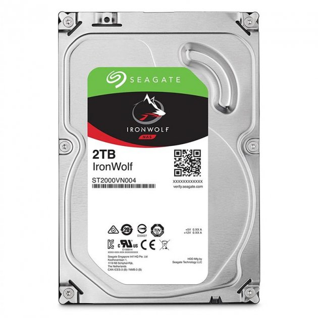 Накопичувач HDD SATA 2.0 TB Seagate IronWolf NAS 5900rpm 64MB (ST2000VN004) - зображення 1