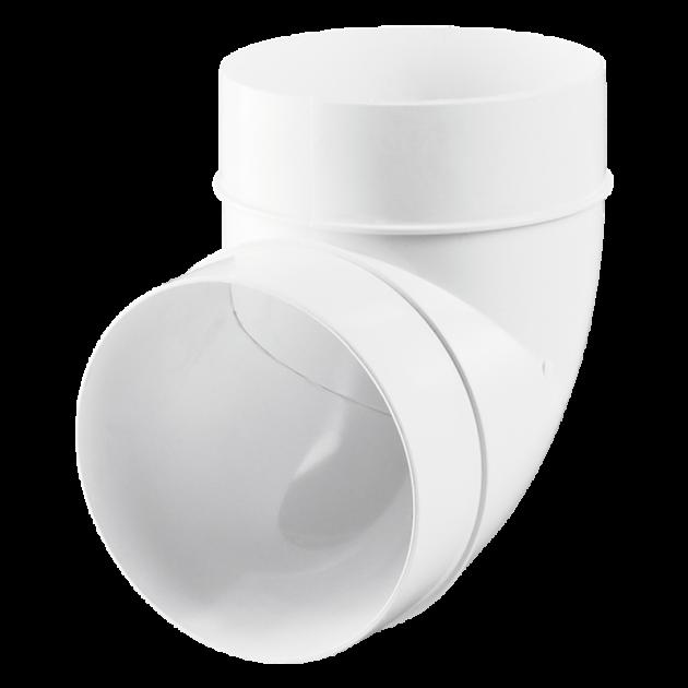 Колено MiniMax 90° для круглых каналов 100 Белый (610005) - изображение 1