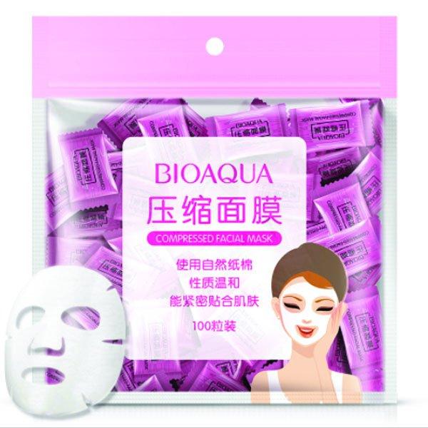 Прессованная тканевая маска для лица. 100шт.(0190) - изображение 1