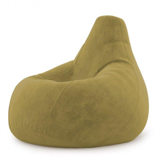 Крісло Мішок Груша Замша 150х100 Студія Комфорту розмір Великий зелений - зображення 1