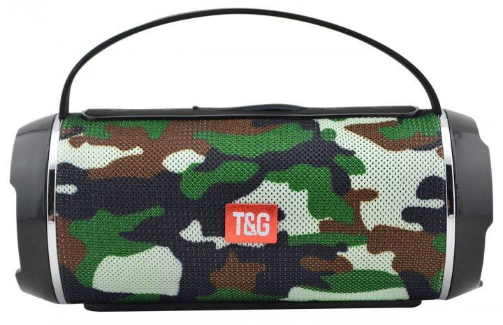 Портативна bluetooth колонка вологостійка T&G 116C камуфляж (np6041) - зображення 1