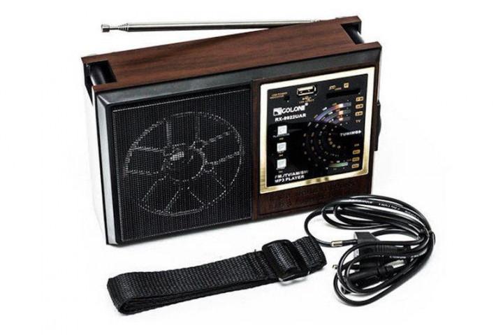Радиоприемник GOLON RX-9922UAR Черно-коричневый - изображение 1