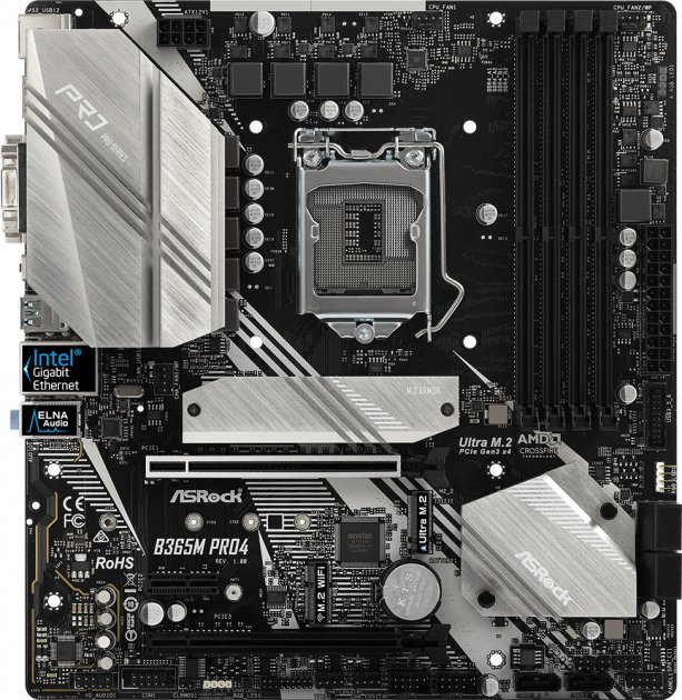 Материнская плата ASRock B365M Pro4 (s1151, Intel B365, PCI-Ex16) - изображение 1