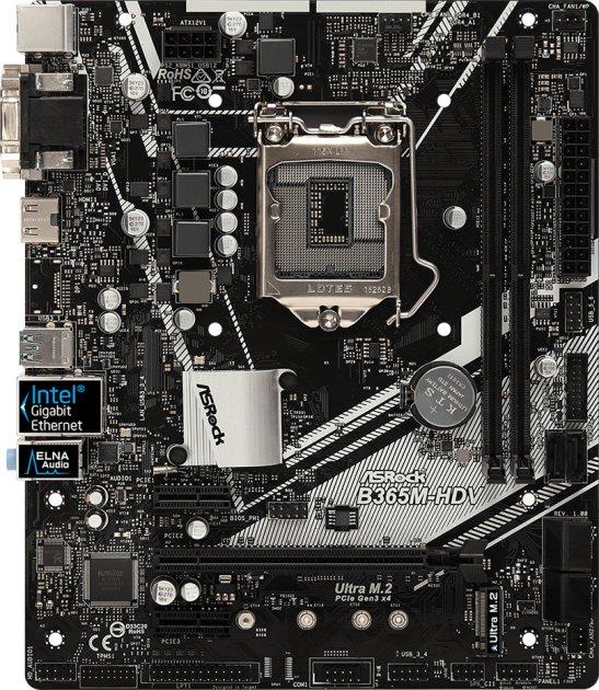 Материнська плата ASRock B365M-HDV (s1151, Intel B365, PCI-Ex16) - зображення 1