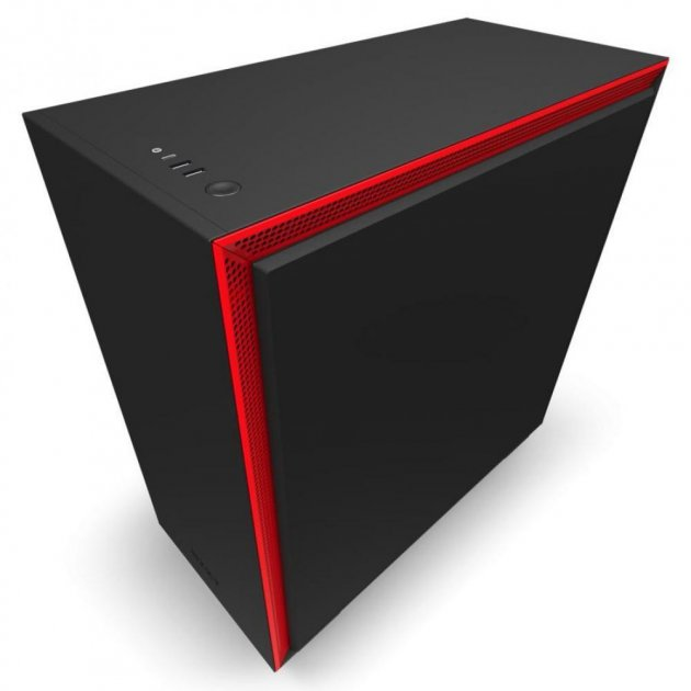 NZXT H710 Mid Tower Black/Red Chassis без БЖ (CA-H710B-BR) - зображення 1