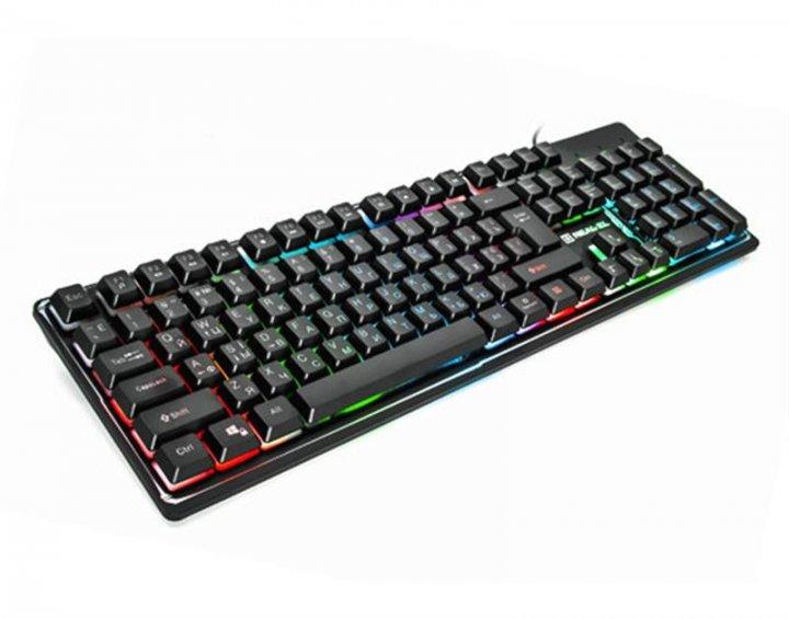 Клавіатура REAL-EL Comfort 7011 Backlit Black USB - зображення 1