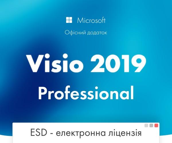 Офісна програма Microsoft Visio Pro 2019 професійний 1 ПК (електронний ключ, всі мови) (D87-07425) - зображення 1