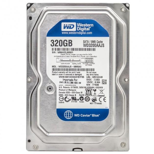 Жорсткий диск Western Digital Caviar Blue 320GB 7200rpm 8MB WD3200AAJS 3.5 SATAII - изображение 1
