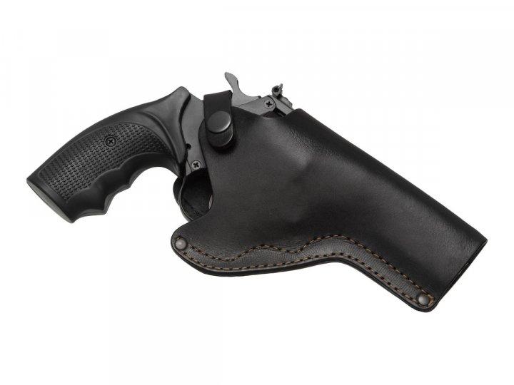 Кобура поясна Револьвер 4 не формована Beneks Шкіра Чорна - зображення 1