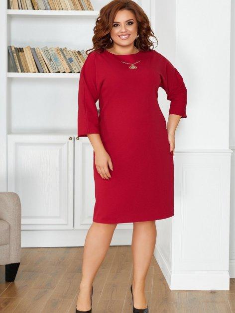 Платье ALDEM 1860 52 Бордовое (2000000550992_ELF) - изображение 1