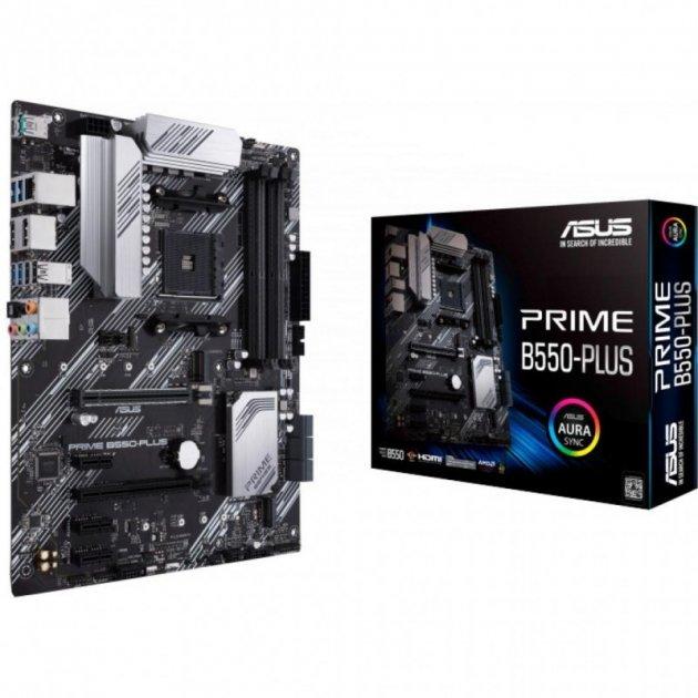 Материнская плата Asus Prime B550-Plus (sAM4, AMD B550, PCI-Ex16) - изображение 1