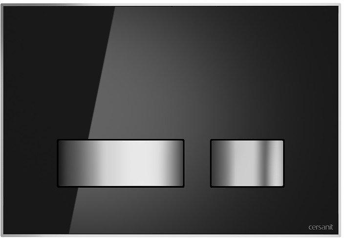 Панель смыва CERSANIT Movi S97-013 черное стекло - изображение 1